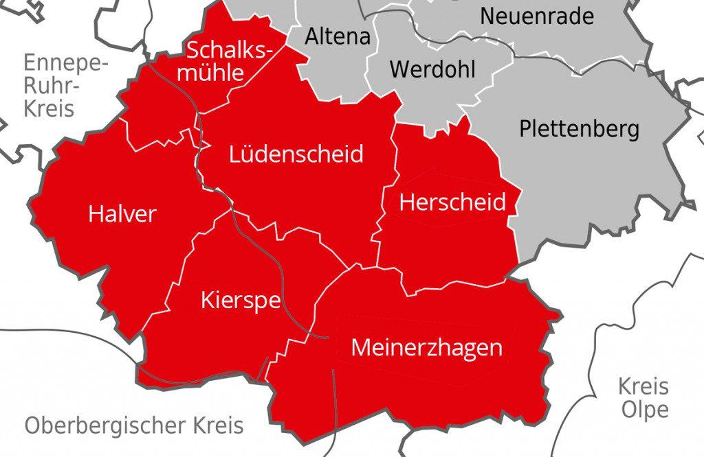 Märkischer Kreis I - Südlicher märkischer Kreis (Quelle: By TUBS, CC BY-SA 3.0, https://commons.wikimedia.org/w/index.php?curid=4653495)