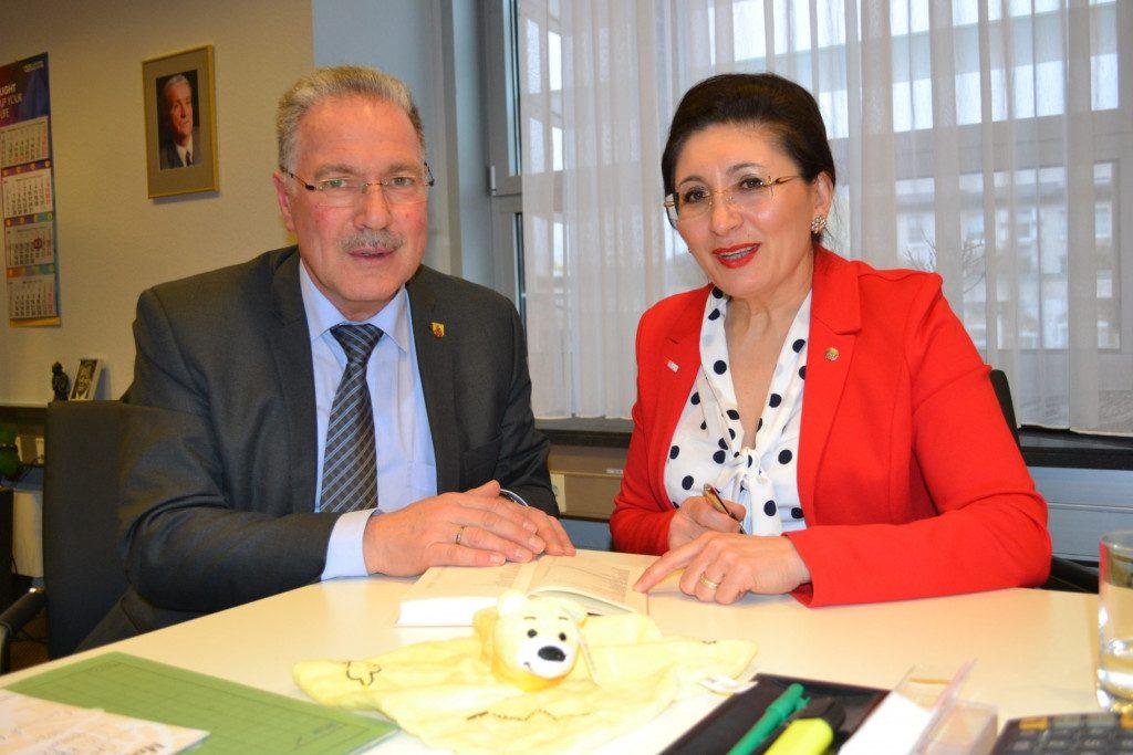 Antrittsbesuch bei Lüdenscheids Bürgermeister Dieter Dzewas