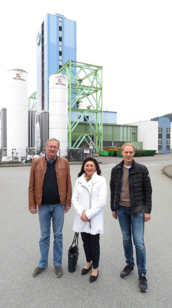 Besuch bei thyssenkrupp Steel in Finnentrop