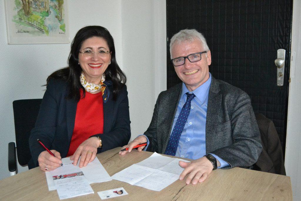 Antrittsbesuch bei Halvers Bürgermeister Michael Brosch