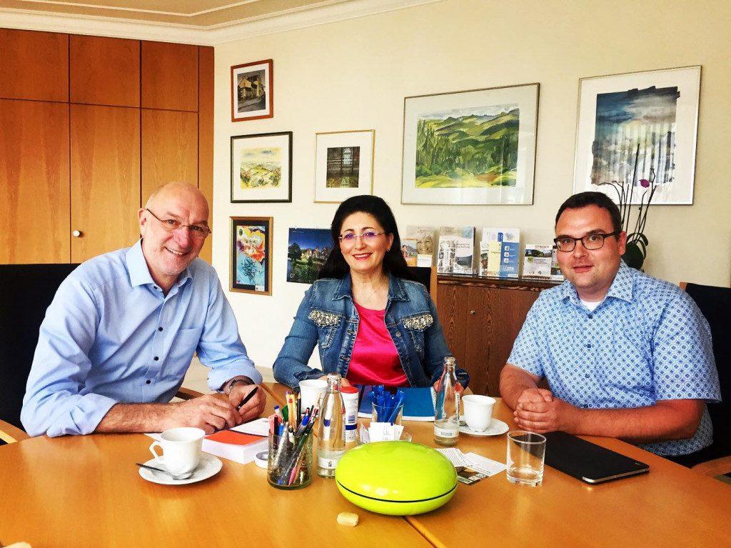 Gespräch mit Bürgermeister und Beigeordnetem der Stadt Lennestadt