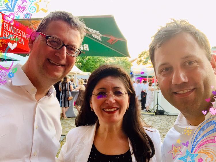 Hoffest der SPD-Bundestagsfraktion - hier mit Thorsten Schäfer-Gümbel und Lars Klingbeil
