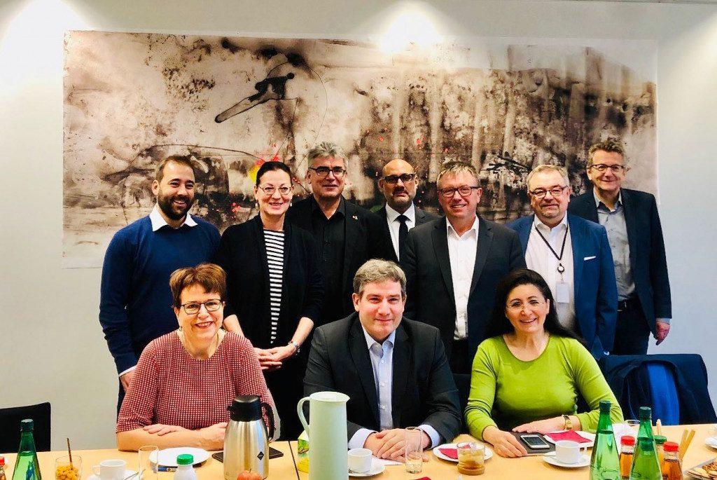 MdB- und MdEP-Kollegen im Austausch in Brüssel