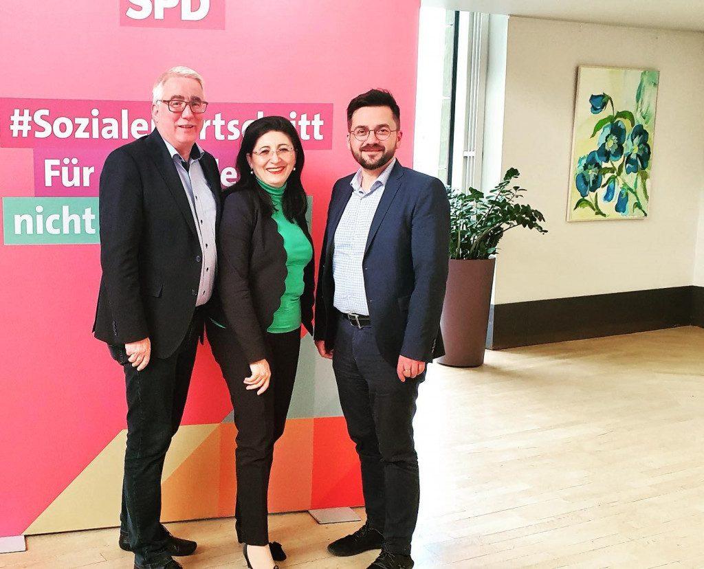 Besuch beim NRW-Fraktionsvorsitzenden Thomas Kutschaty im Düsseldorfer Landtag zusammen mit Falk Heinrichs, ehemaliges MdL